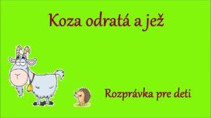 Koza odratá a jež (audio rozprávka)