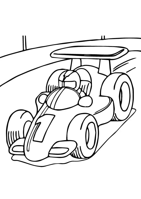 Omaľovánka - Formula - 1