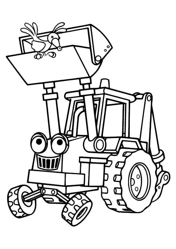 Omaľovánka - Traktor