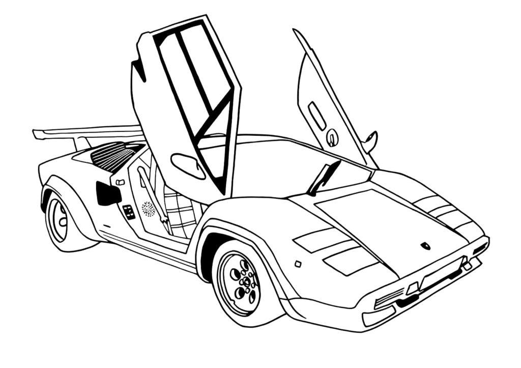 Omaľovánka - Auto - 4