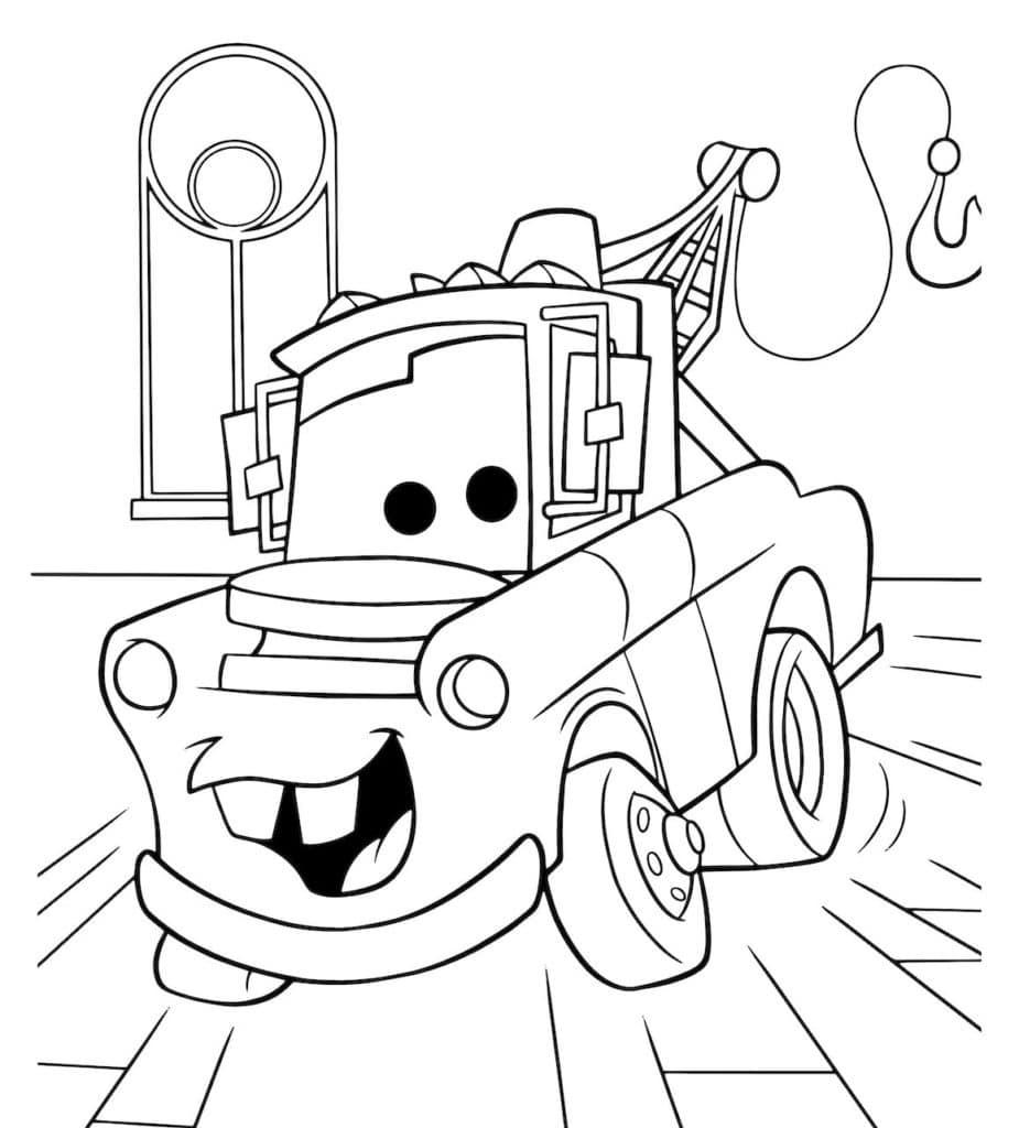 Omaľovánka - Auto - 6