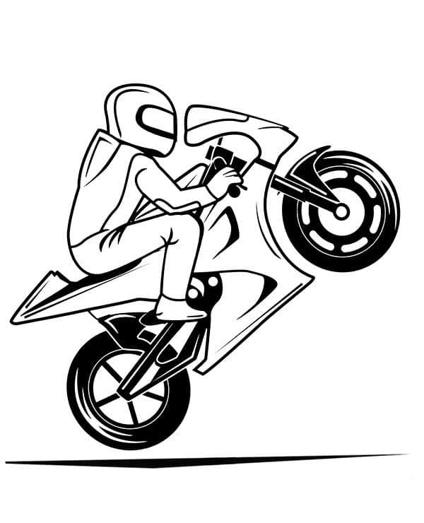 Omaľovánka - Motorka