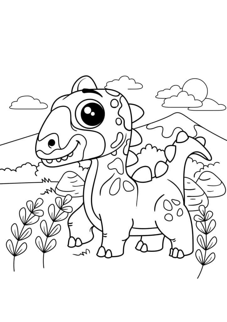 Omaľovánka - Dinosaurus - 11