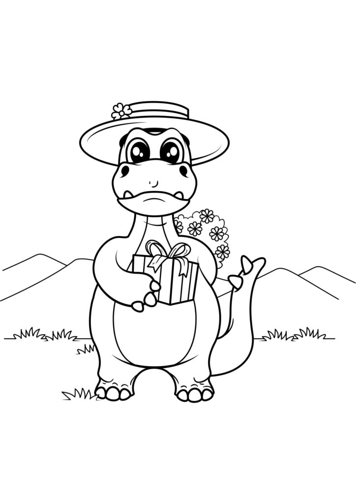 Omaľovánka - Dinosaurus - 12