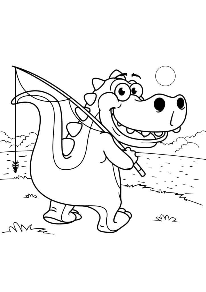 Omaľovánka - Dinosaurus - 15