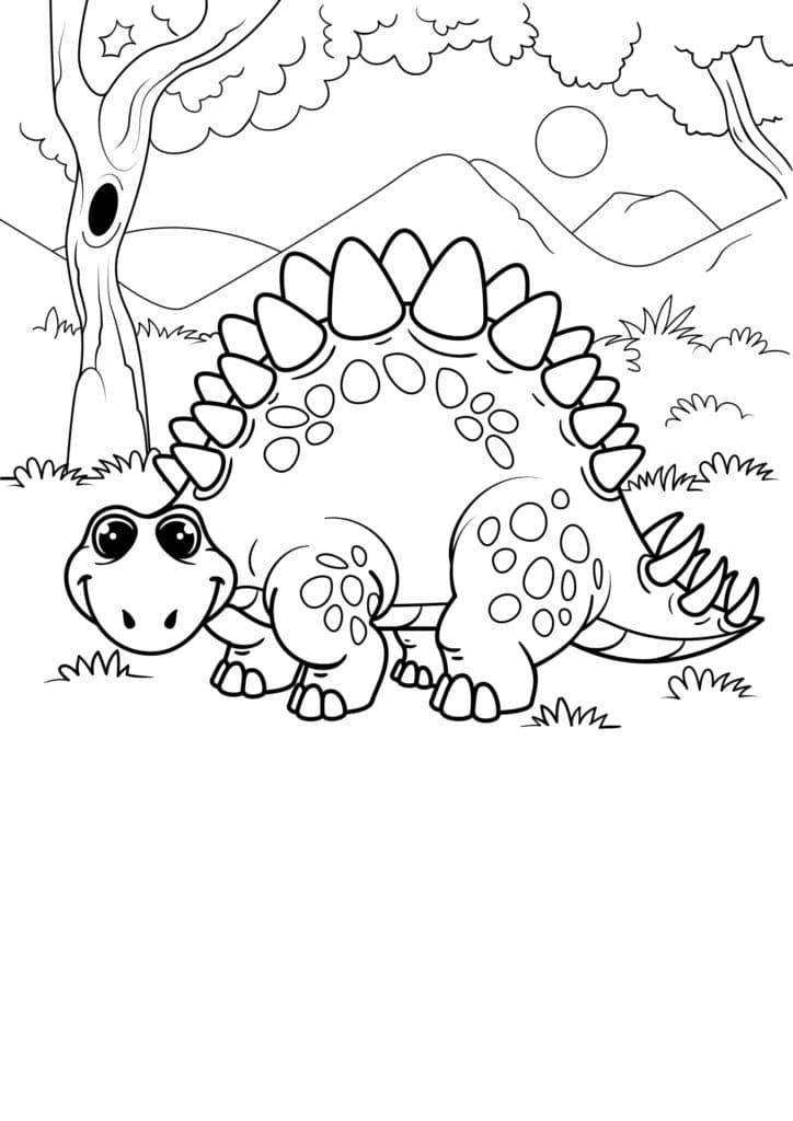 Omaľovánka - Dinosaurus - 16