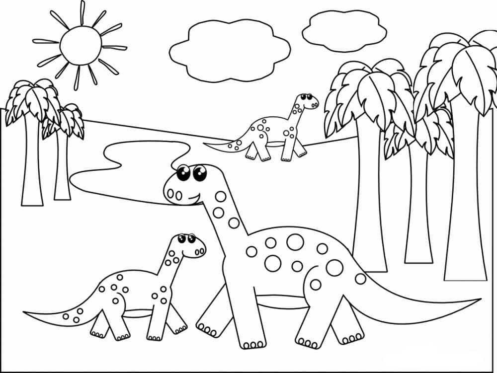 Omaľovánka - Dinosaurus - 21