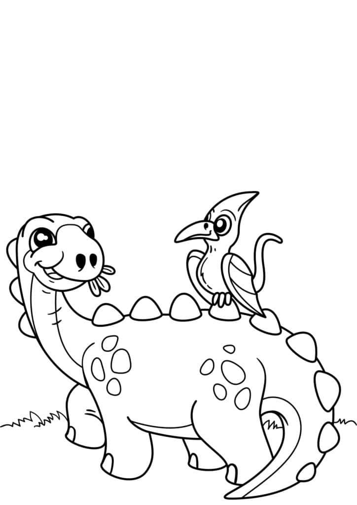 Omaľovánka - Dinosaurus - 3