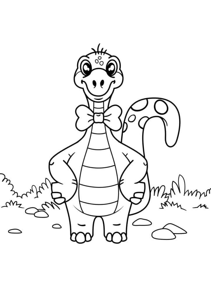 Omaľovánka - Dinosaurus - 5