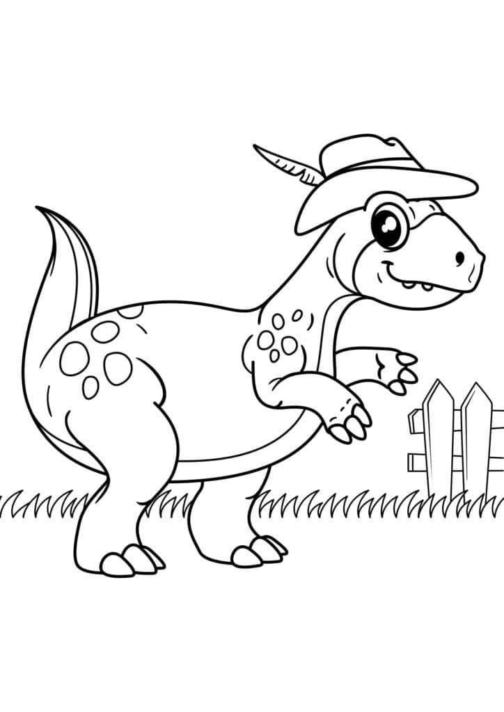 Omaľovánka - Dinosaurus - 6