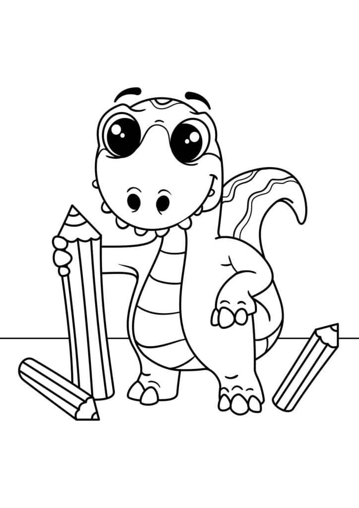 Omaľovánka - Dinosaurus - 7