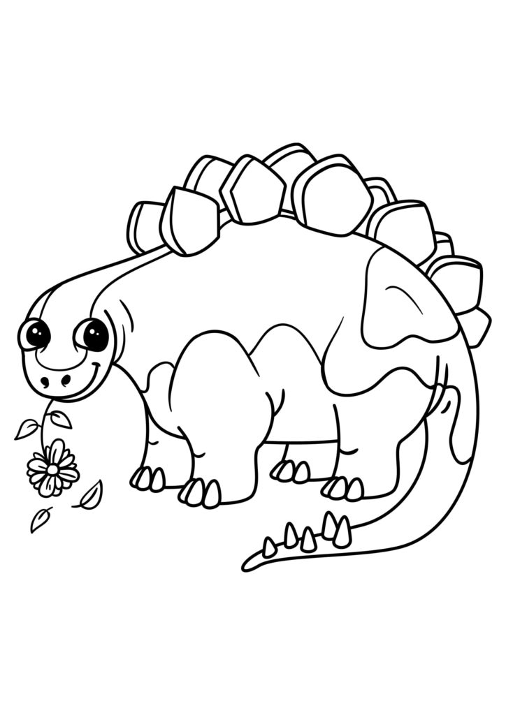 Omaľovánka - Dinosaurus - 8