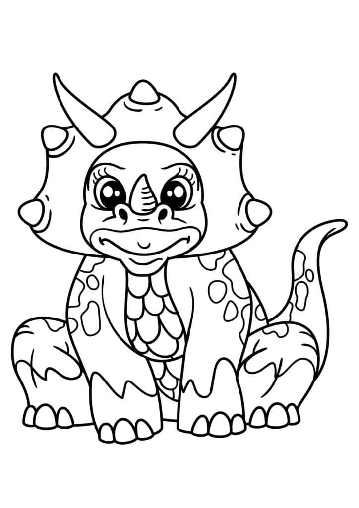 Omaľovánka - Dinosaurus - 9