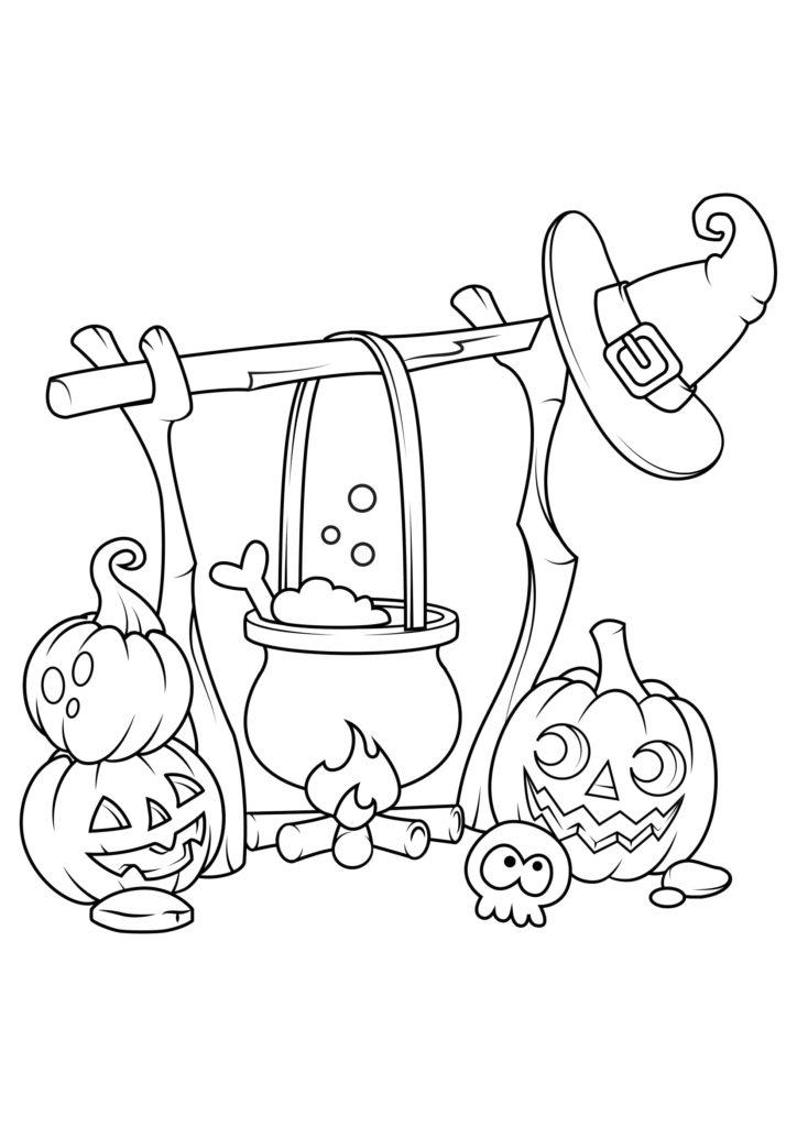 Omaľovánka - Halloween - 11
