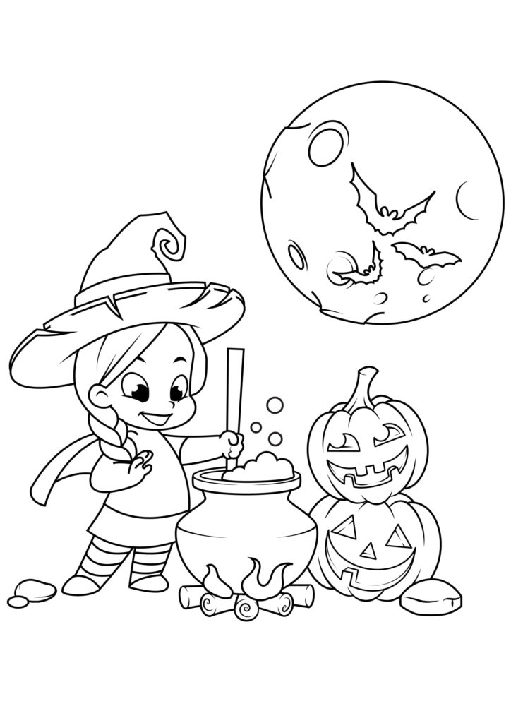Omaľovánka - Halloween - 12