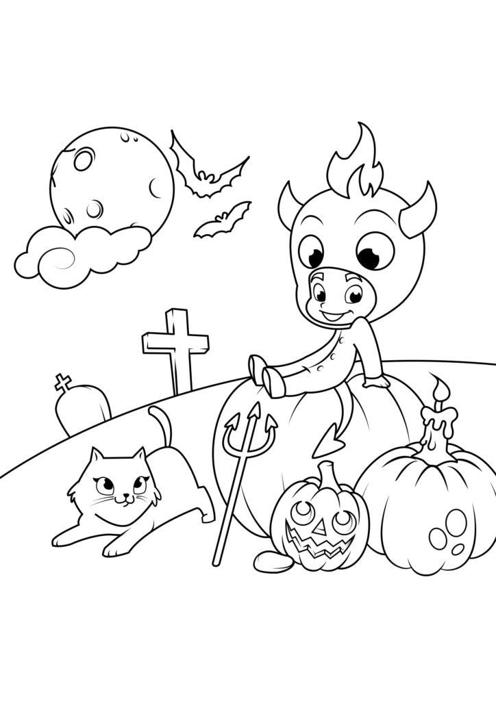 Omaľovánka - Halloween - 13