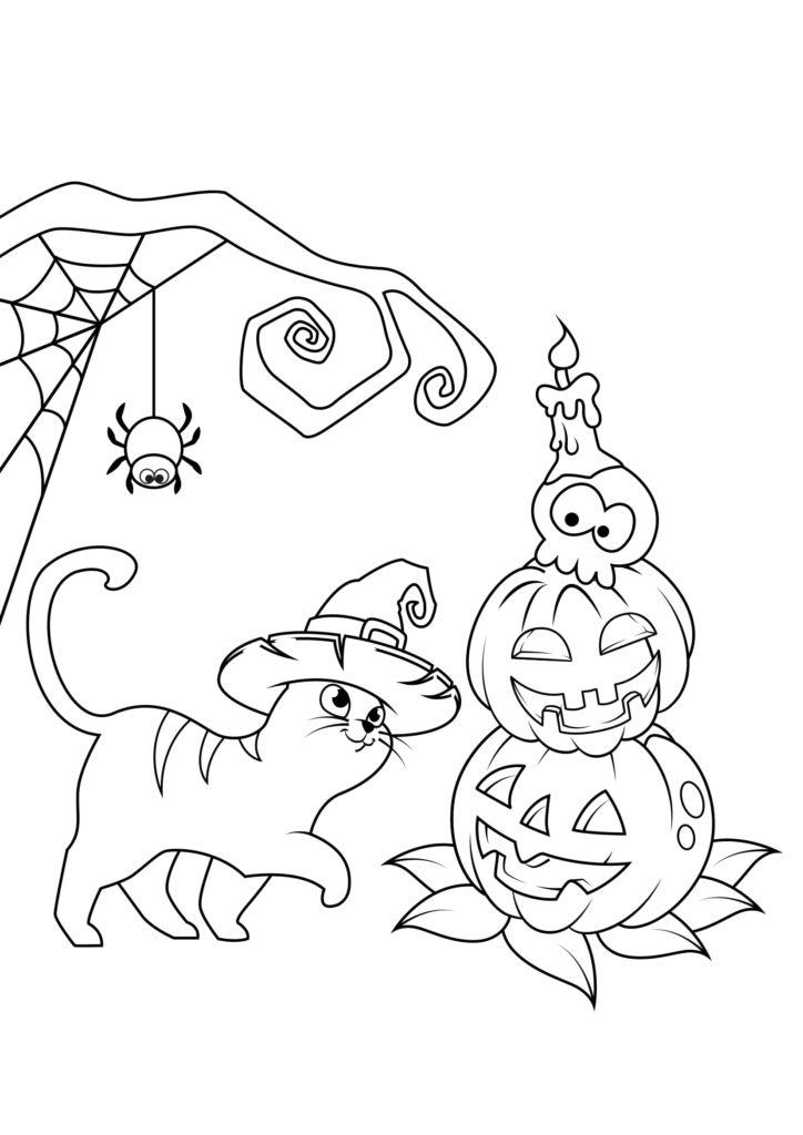 Omaľovánka - Halloween - 14