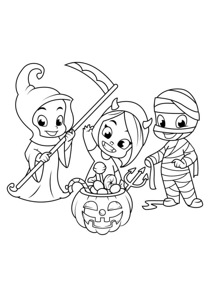 Omaľovánka - Halloween - 15
