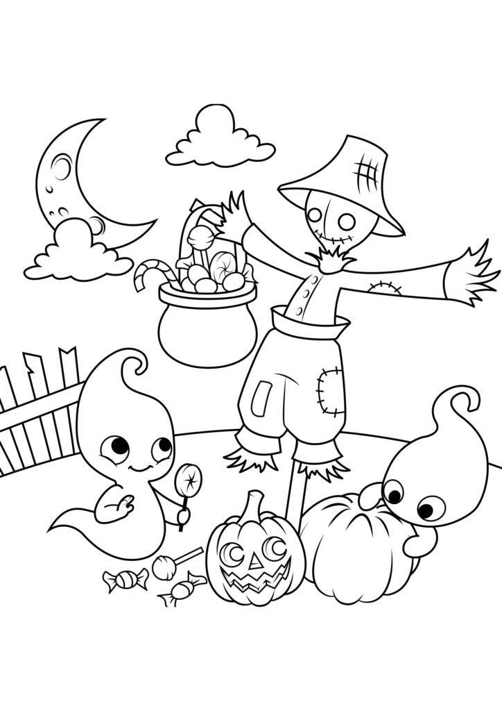 Omaľovánka - Halloween - 17