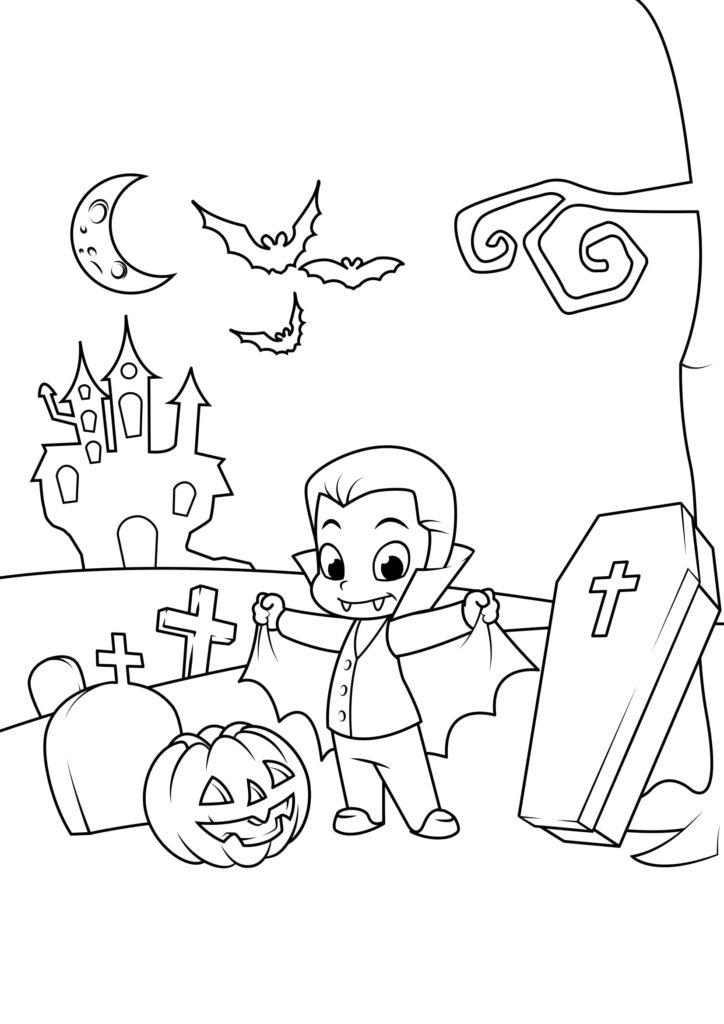 Omaľovánka - Halloween - 18
