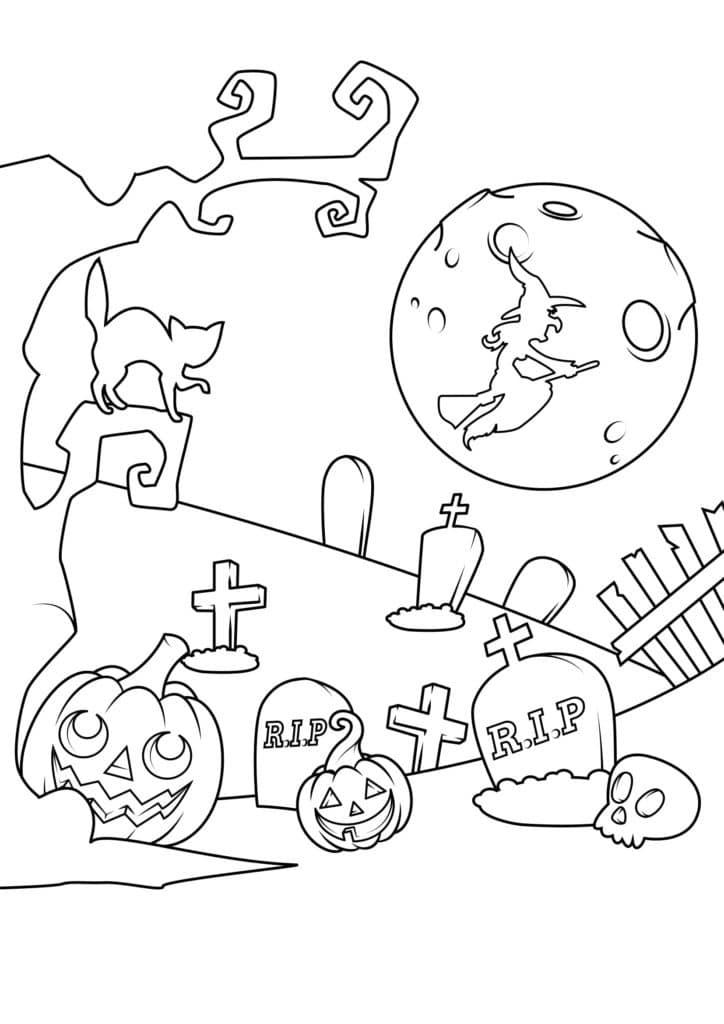 Omaľovánka - Halloween - 19
