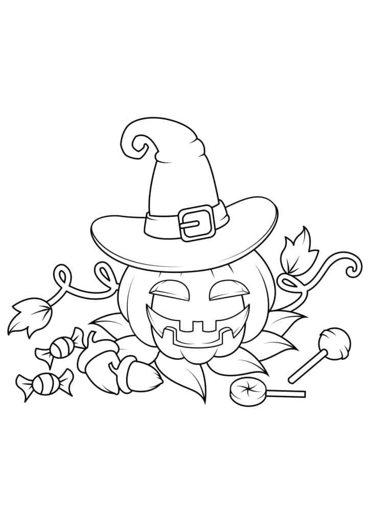 Omaľovánka - Halloween - 2