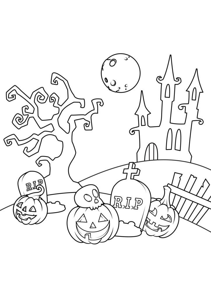 Omaľovánka - Halloween - 20