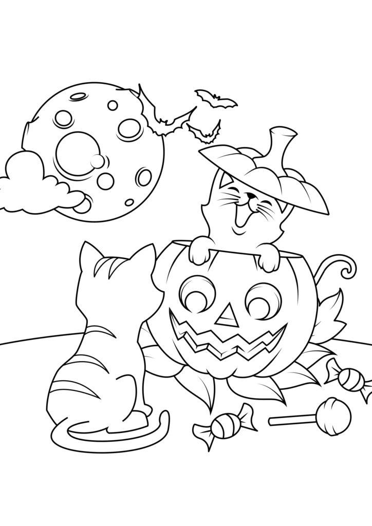 Omaľovánka - Halloween - 4
