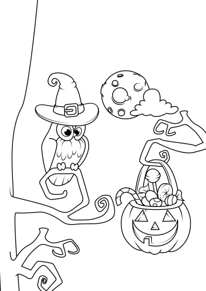 Omaľovánka - Halloween - 5