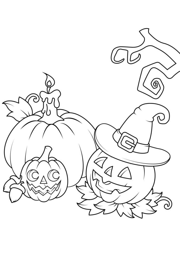 Omaľovánka - Halloween - 9