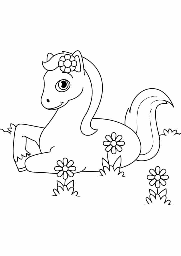Omaľovanka - kôň - 10