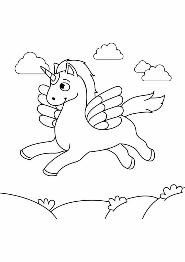 Omaľovánka - kôň - 13