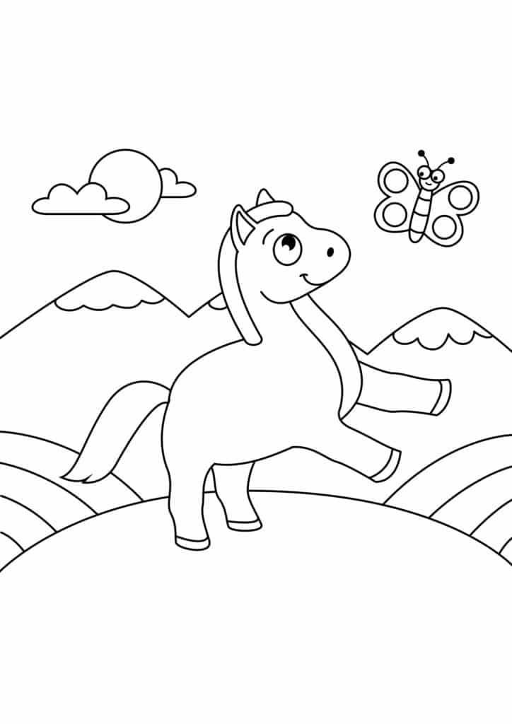 Omaľovánka - kôň - 14