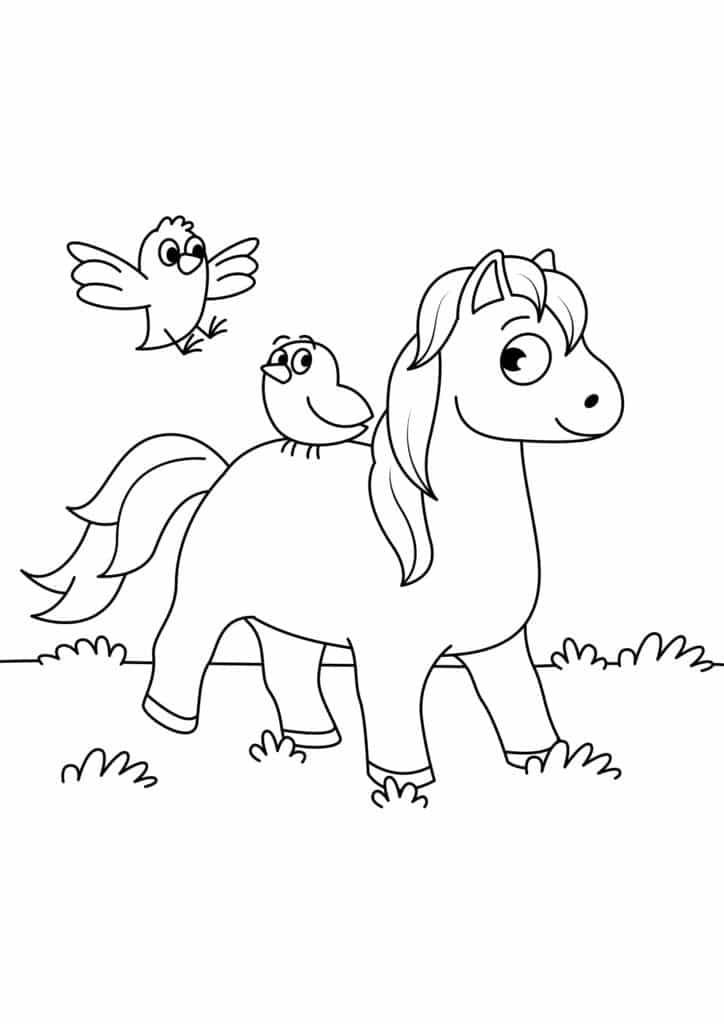 Omaľovánka - kôň - 15