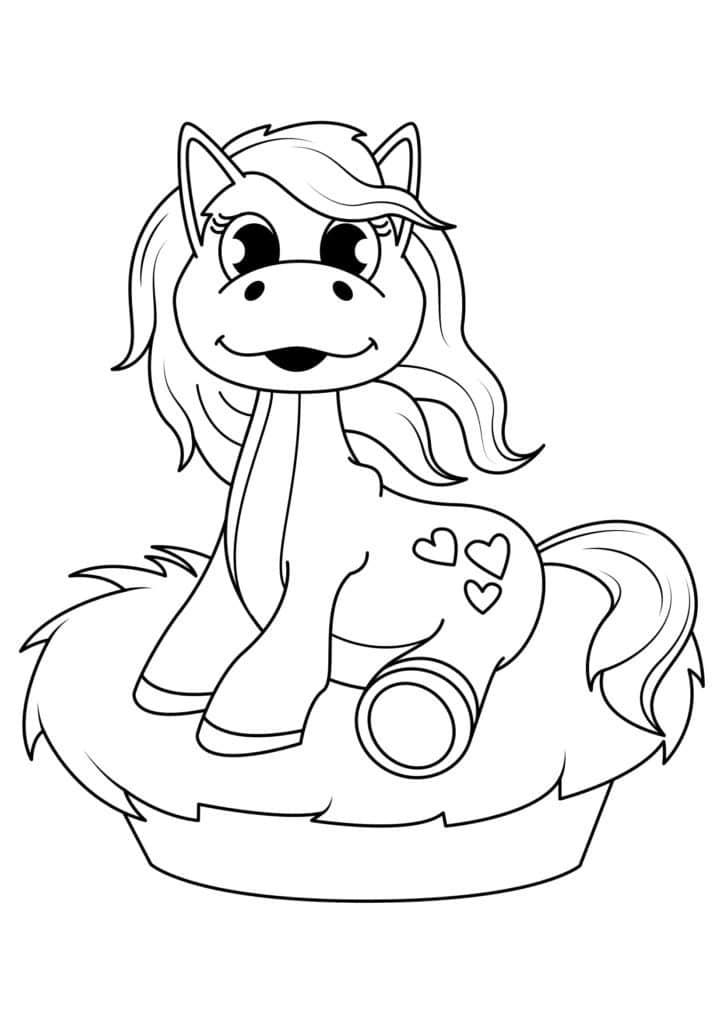 Omaľovánka - kôň - 17