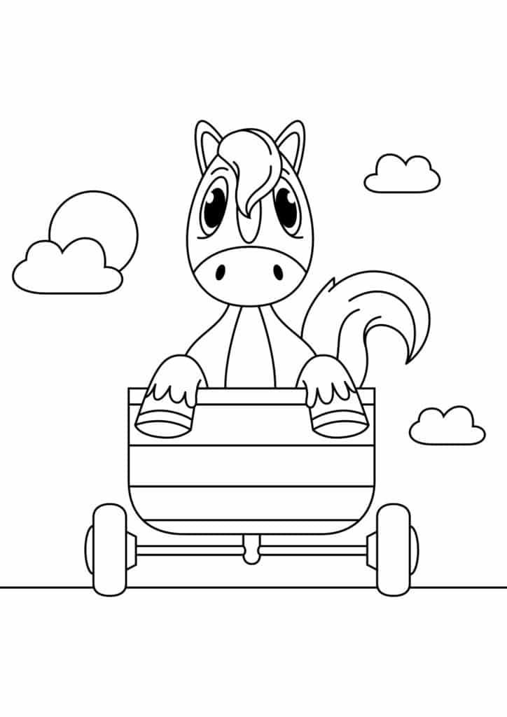Omaľovánka - kôň - 20