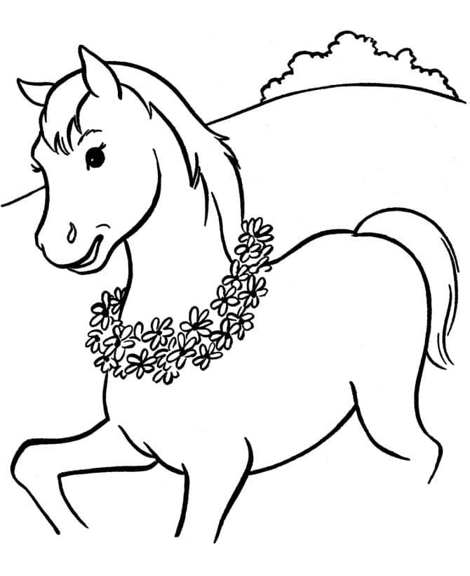 Omaľovánka - kôň - 3