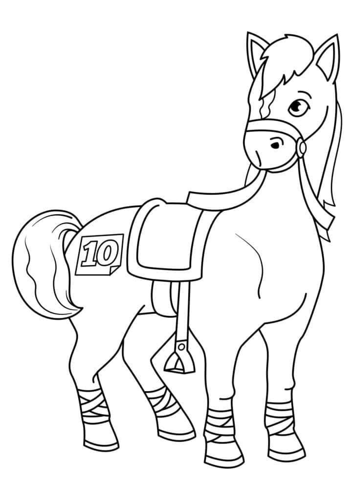 Omaľovanka - kôň - 8