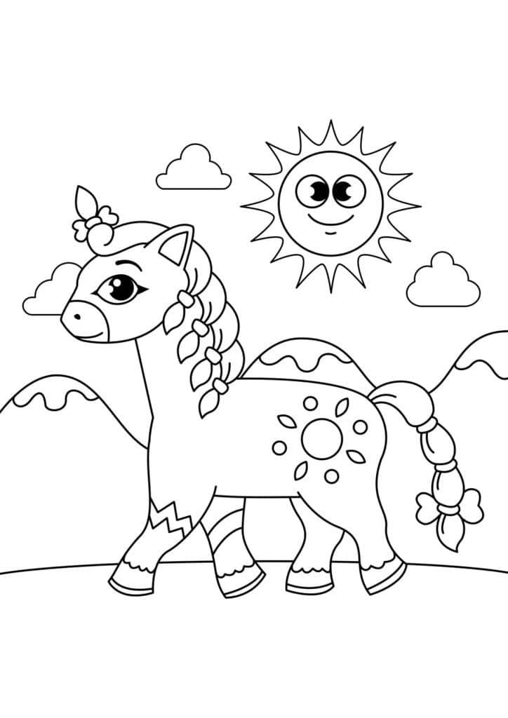 Omaľovanka - kôň - 9