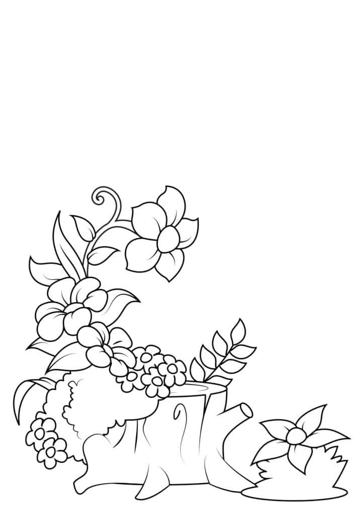 Omaľovánka - kvety - 1