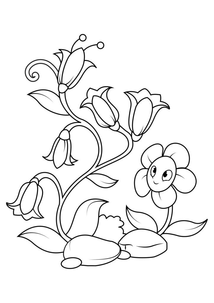 Omaľovánka - kvety - 10