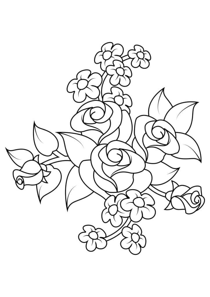 Omaľovánka - kvety - 11