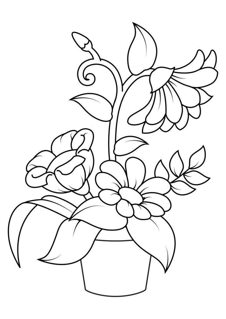 Omaľovánka - kvety - 12