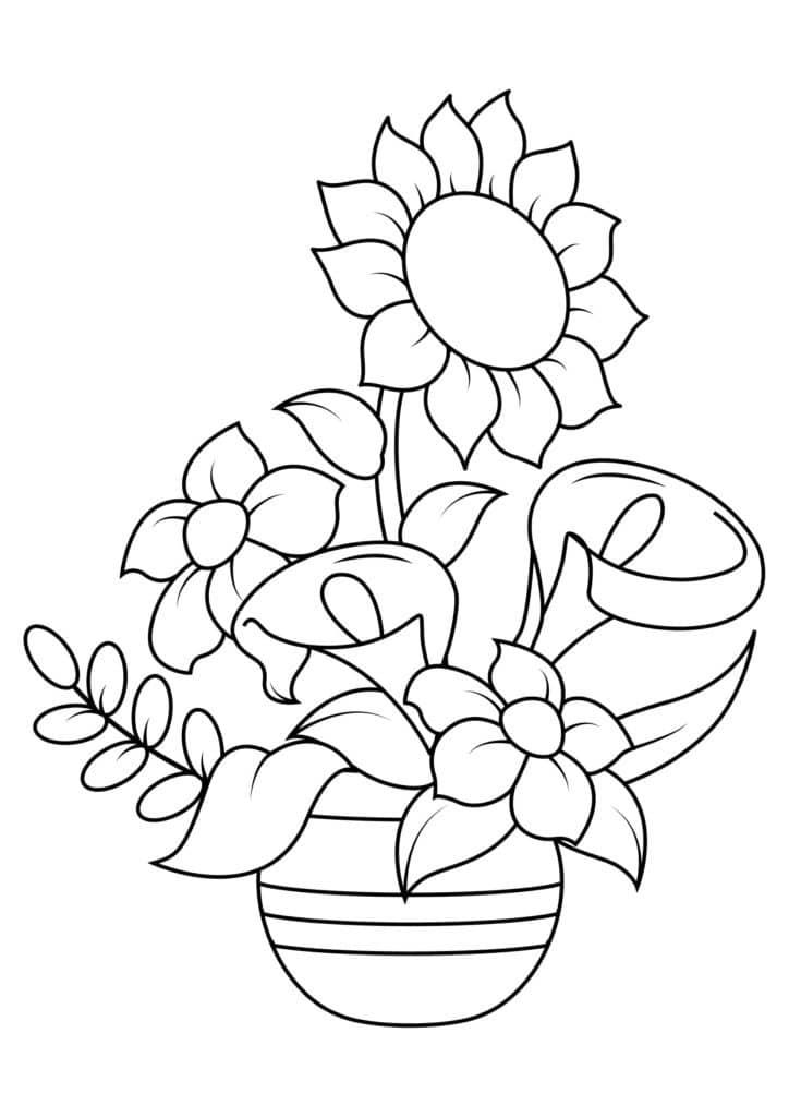 Omaľovánka - kvety - 15