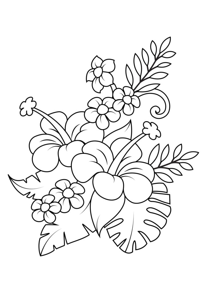 Omaľovánka - kvety - 16