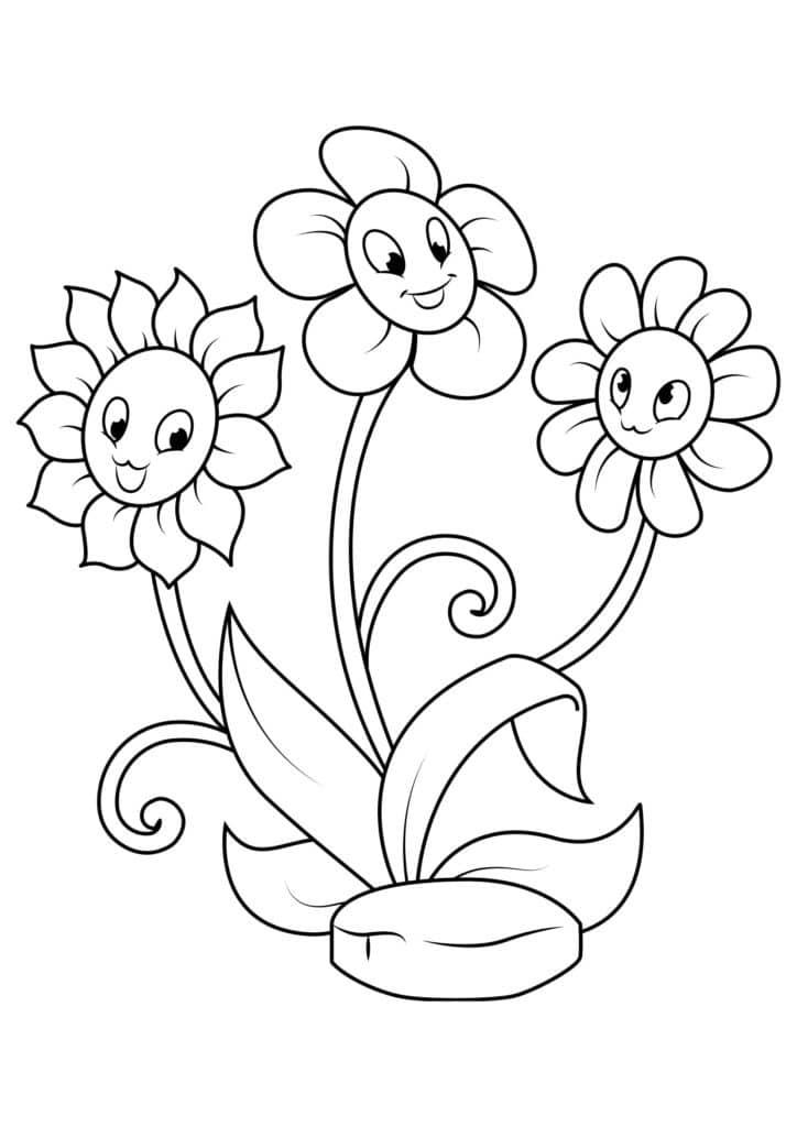 Omaľovánka - kvety - 17
