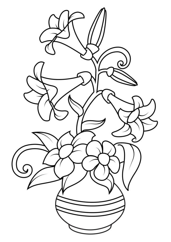 Omaľovánka - kvety - 5