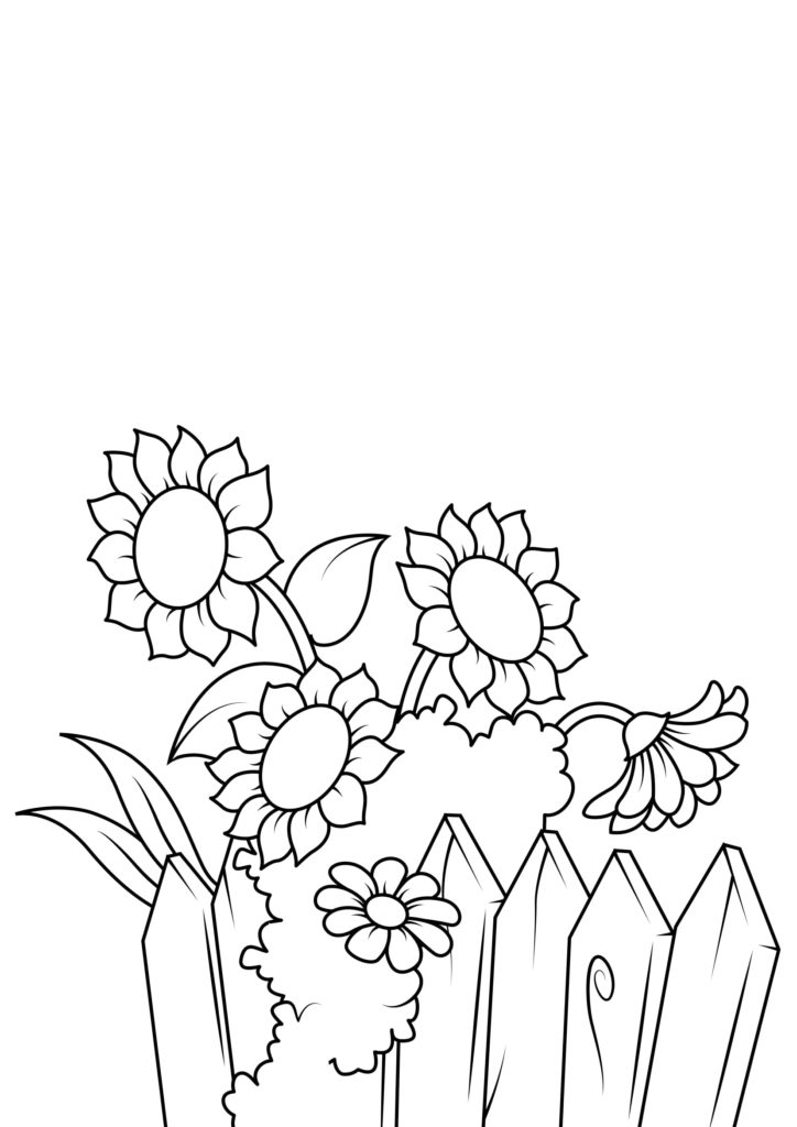 Omaľovánka - kvety - 6