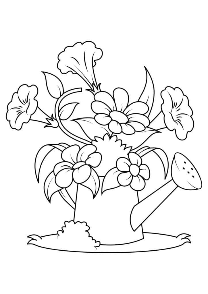 Omaľovánka - kvety - 8
