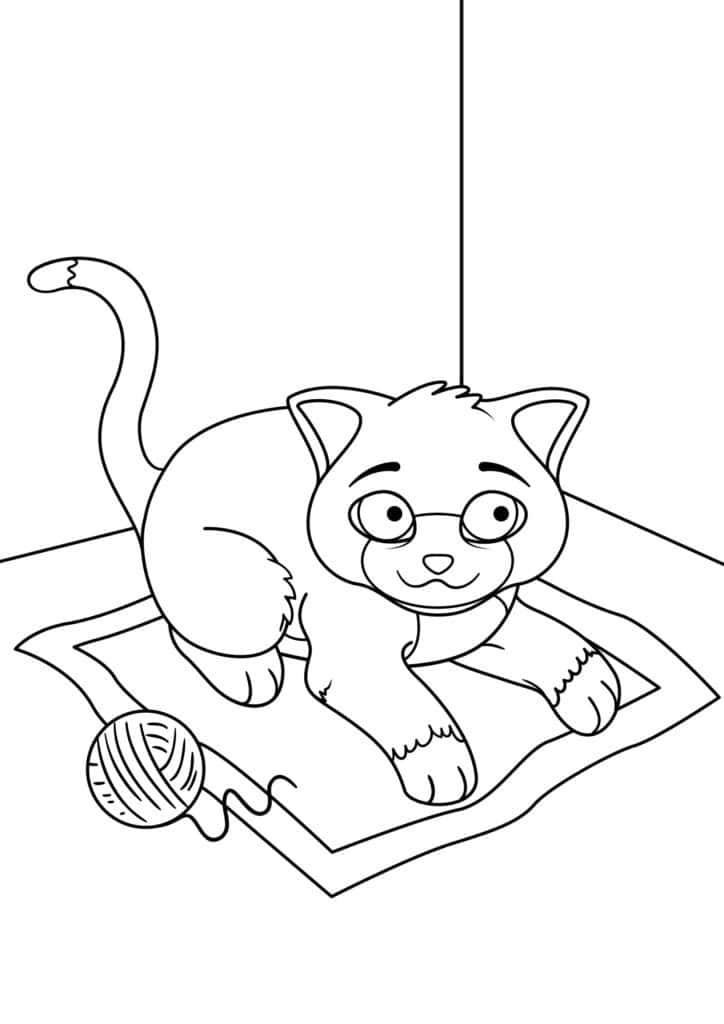 Omaľovánka - mačka - 1